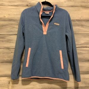 Columbia Blue and Pink Pullover